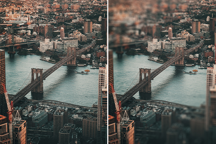 Brooklyn bridge new york city from above