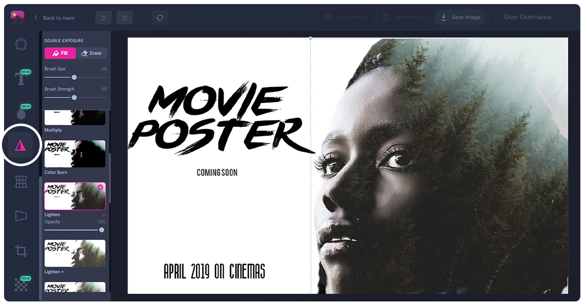 Movie poster creation using Double Exposure technique