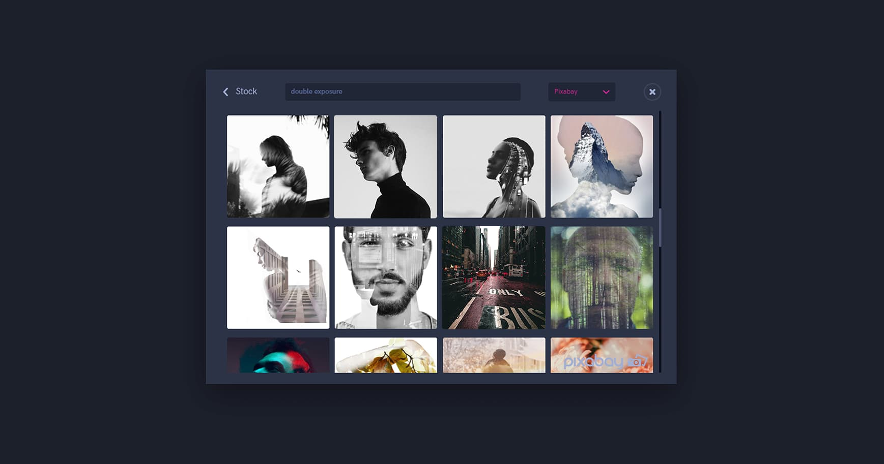 Stock photo search for Double Exposure keyword